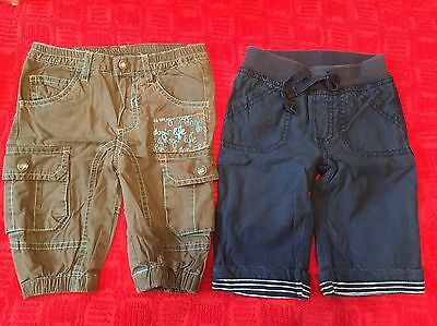 2 Baby boy trousers 3-6 months