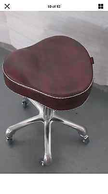 Salon Chair Equipment Hairdressing Stool 6628 Black&maroon