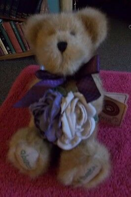 The Boyds Collection Jointed Teddy Bear Flora Thanksabunch Thank You Flowers 8""