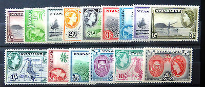 NYASALAND 1953 Complete to 20/- SG173-187 U/M NEW LOWER PRICE SEE BELOW FP6688