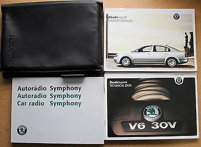 Genuine Skoda Superb Handbook Owners Manual Wallet 2001-2006 Pack 12301