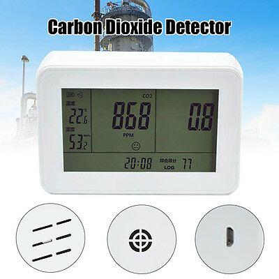 YEH-40 LCD Carbon Dioxide Detector CO2 Monitor Temperature Meter 0-9999ppm PM1.0