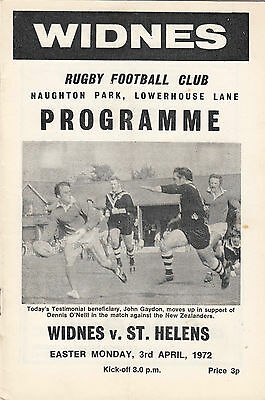 Widnes v St Helens 1971/2