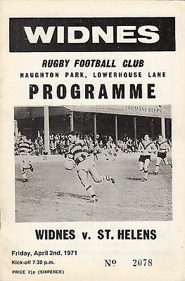 Widnes v St Helens 1970/1