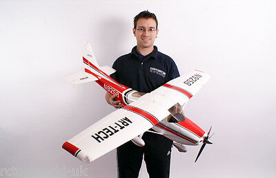 Art-Tech RC Radio Remote Control Large Scale Cessna 182 Epo 500 Class RED