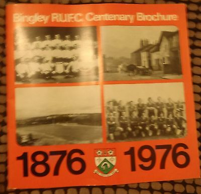 bingley rufc centenary brochure  1876 - 1976