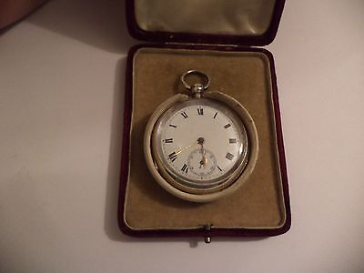 Ballard & Son Frome Solid Silver Fusee 1909  Pocket Watch -Working