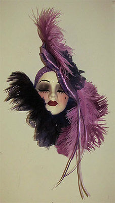 """"""" Clearance Sale """" Unique Creations Lady Face Mask Wall Hanging Decor"""