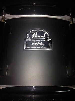 "Pearl Joey Jordison 13"" x 6.5"" Signature Steel Black Snare Drum"