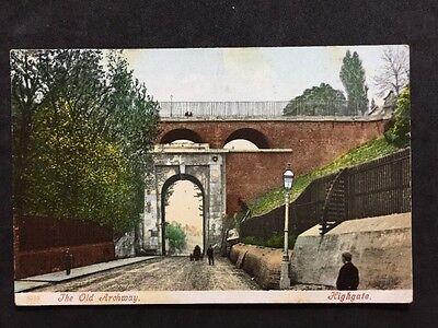 RP Vintage Postcard - London #OA1 - The Old Archway, Highgate