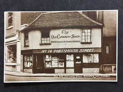 RP Vintage Postcard - London #OA2 - Old Curiosity Shop, Lincolns Inn - 1932