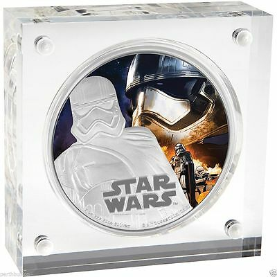 2016 $2 Niue Star Wars: - Captain Phasma - 1 oz Silver Proof Coin NZ Mint