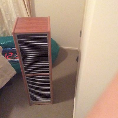 2 x 40 DVDS Stands (Wood and Chrome look) Excellent Condition