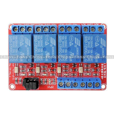 4-Channel 12V Relay Module with Optocoupler High/Low Level Triger for Arduino CF