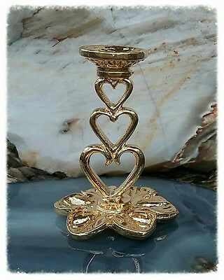 sphere/egg gemstone stand - gold three tier heart stand
