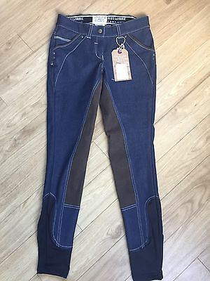 Ladies Denim Horseware Breeches Size 26R