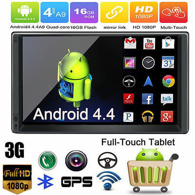 Double 2Din Android 5.1 GPS Navigator Quad-Core Autoradio Wifi RDS Car Stereo 3G