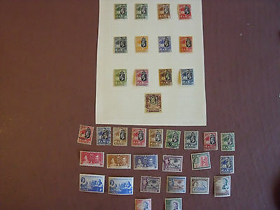 Gambia, Collection Stamps, 36, Mint &  Used, On Leaves + Loose