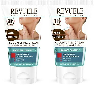 2x Revuele Sculptor Cream with Caffeine for Chin Neck, Décolleté and Hands 150ml