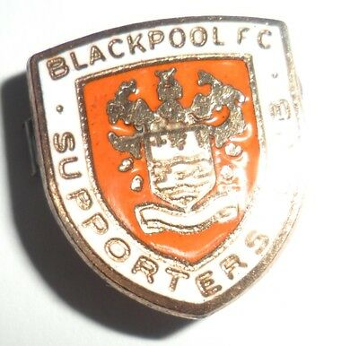 Old  (Mp)  Blackpool  Football  Supporters  Club  Enamel  Badge