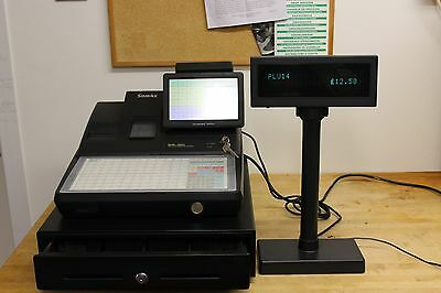 Pole Customer Display Unit - 20x2 Character VFD for EPOS/Cash registers