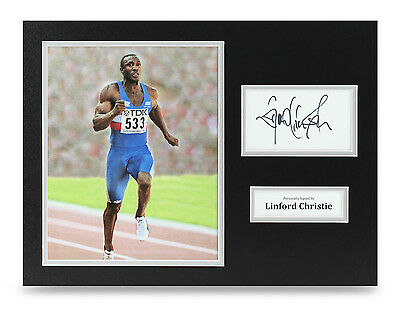 Linford Christie Signed 16x12 Photo Autograph Olympics Memorabilia Display COA
