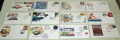 fourth lot. unusual cancels or envelopes - first day covers