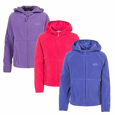 Trespass SNOZZLE Girls Airtrap Full Zip Lightweight Fleece Hoodie