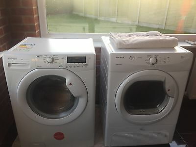 Matching Hoover 8kg Washing Machine And 8kg Condensing Tumble Dryer