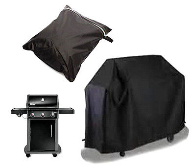 Waterproof Black BBQ Cover Outdoor Rain Barbecue Grill Protector 117 X 61X 145CM