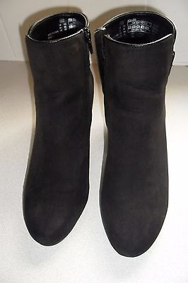 Womens Black Ankle Boots-Size 6.5