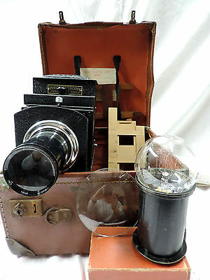 ENSIGN OPTISCOPE No 6 MAGIC LANTERN PROJECTOR Lens + Extras ORIG CASE WORKING!!