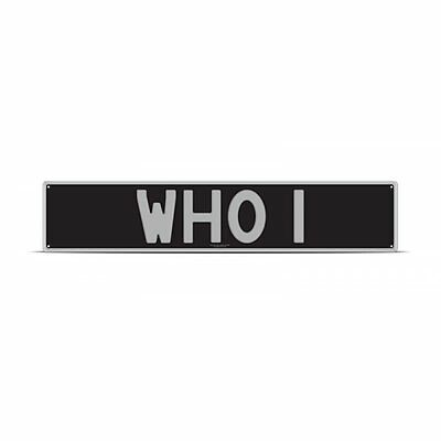 Sign/Plaque/Tin Sign/Registration Plate ~ Dr Who/Bessie ~ WHO 1