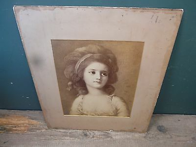 Antique Gustav Schauer reproduction; picture: 33x41, in larger mounted card B37