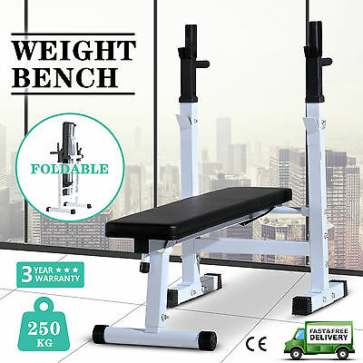 Weight Bench Barbell Workout Heavy Duty Shoulder Chest Press Home Gym Exercise