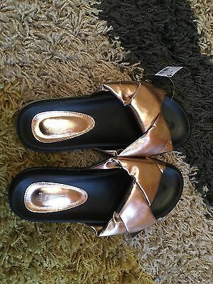 Ladies Bronze Beach Sandals Sliders Next New Size 5