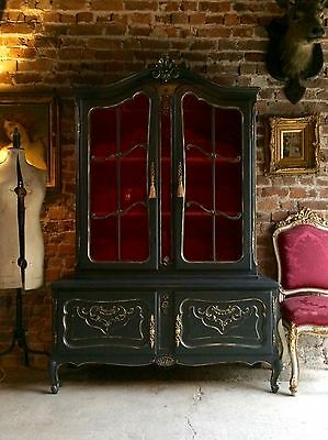 Stunning Antique Style French Dresser Bookcase Display Cabinet Vitrine Carved