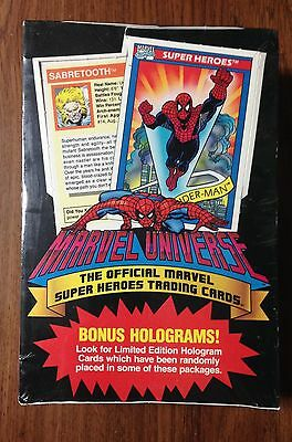 1990 Marvel Universal Super Heroes Trading Cards Sealed Wax Box w/36 Packs