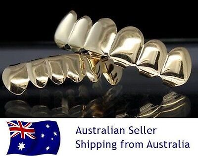 Teeth Grillz Gold Jewellery With Custom Mould Grills Hip Hop Gangster