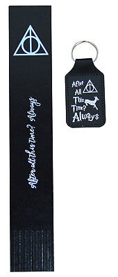 Harry Potter Deathly Hallows Foil Blocked bonded Leather Bookmark Burgundy