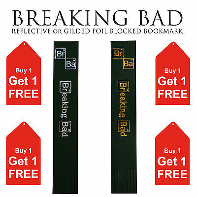 Breaking Bad Foil Blocked bonded Leather Bookmark - Gold/Reflective Walter White