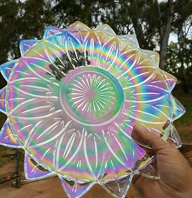 antique crystal glass rainbow color
