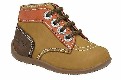 KICKERS Bonbon Camel Orange Bronze Garçon Bottillon
