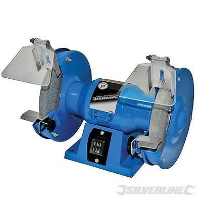 Silverline 150W Bench Grinder Sander Polisher Machine 150mm 3 Year Warranty