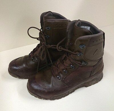 Genuine British Army Brown Leather Haix Boots Issued