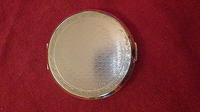 vintage stratton silver tone engraved powder compact