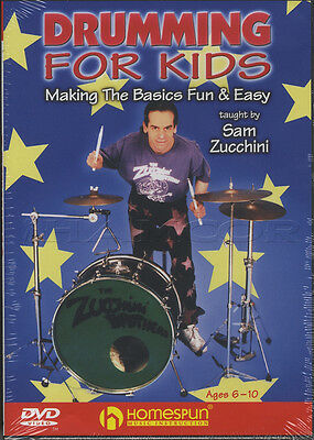 Drumming for Kids Learn How To Play Drums Tuition DVD for Ages 6-10