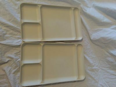 Vintage TUPPERWARE LOT Divided Plates Camping Daycare Picnics RVs Vegetable Tray