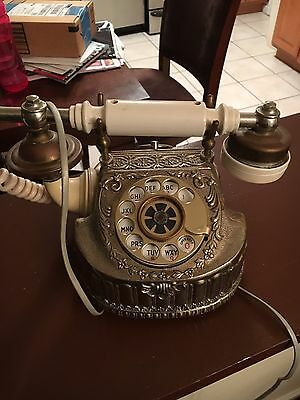 Antique Rotary Phone French Style Vintage Old Fashioned Telephone Princess