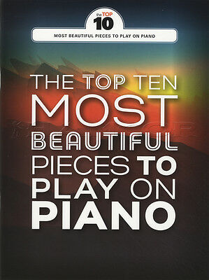 The Top Ten Most Beautiful Pieces to Play on Piano Sheet Music Book Chopin Hande
